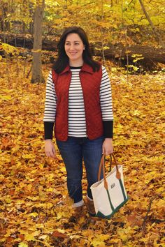 Preppy fall outfit with L.L.Bean Boots