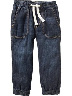 Pull-On Denim Joggers for Baby