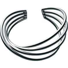 ALLIANCE bangle - sterling silver....Connie Fox: The eye travels along the wires.