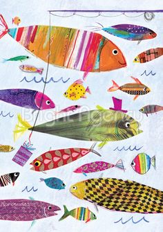 Laura Hughes - colorful fish illustration