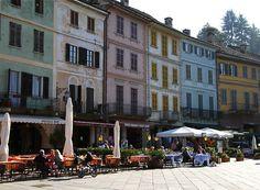 Plaza Motta in Orta San Giulio, Northern Italy