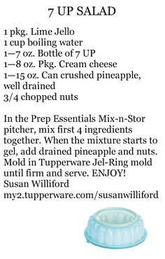Tupperware 7 up Salad