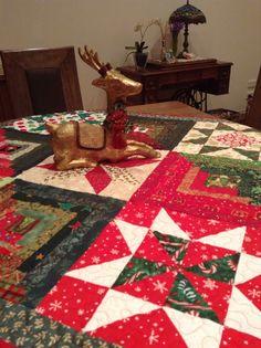 Starry logs/ block swap quilt