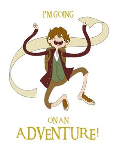 The Hobbit Adventure Time Style. Found this on the AMC Theaters Facebook Page. - Imgur