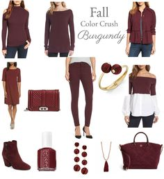 Fall Color Crush-Burgundy, Maybe a cardigan in this color.