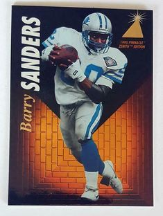 6cb4c8e0bbd Barry Sanders Pinnacle Zenith 1995 Sports Trading Card #Z87 Detroit Lions  #DetroitLions