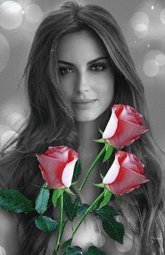 Rosas para una hermosa dama.