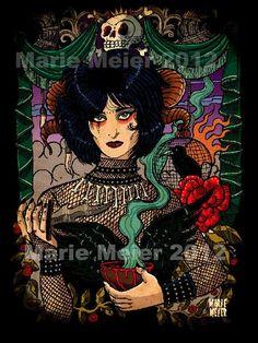 Siouxsie Sioux, art print, 2012