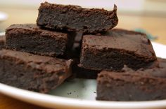 Vegan brownies made with... black beans! and flavored with a hint of orange.