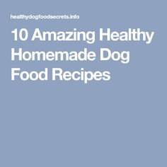 10 Amazing Healthy Homemade Dog Food Recipes