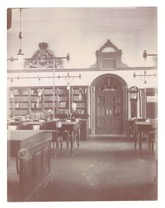 Reading room at the National Archives of Denmark, abt.1912