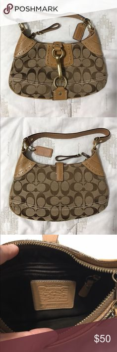 Coach Purse (small) REAL Coach purse, small in size, lightly used, and in excellent condition. Flexible on price! Coach Bags