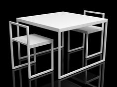 Fronzoni '64 chairs/table - CAPPELLINI, by A.G. Fronzoni