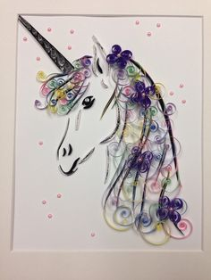 Quilling Art Unicorn Framed Art by jgaCreations on Etsy