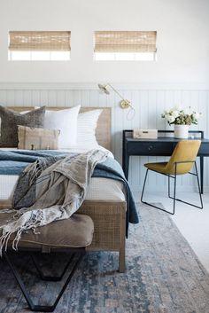 BECKI OWENS - Brown Carpet, Modern Cottage, Modern Farmhouse, White Furniture, Tile Design, Bedroom Decor, Master Bedroom, Casual Bedroom, Bedroom Ideas