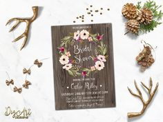 Rustic Save the Date Card Printable Floral Save от DigartDesigns