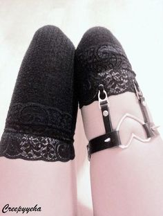 Ringed Heart Garter by CREEPYYEHA on Etsy, $42.00