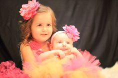 Pretty in pink! My sweet girls #tulleskirts #sisters