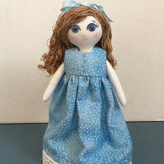 Dainty Little Doll all ready for bed!  #clothdolls #heirloomdoll #dollmaker #handmadedoll #handmadedolls #tinydoll