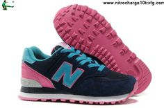 Buy Discount New Balance NB WL574BFP candy fashionista Blue Pink Black For Women shoes Shoes Store