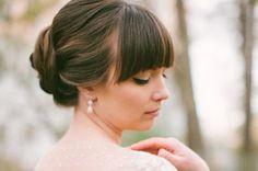 acconciatura sposa frangia - Cerca con Google