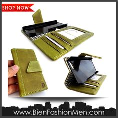 Mens iPhone Wallet   iPhone Case   iPhone Cover   Phone Wallet   SHOP NOW ♦ Genuine Natural Leather Case Fit for Apple Iphone 4 Book Cover Wallet Id Holder Bag Iphone4 4s S 3g $29.99