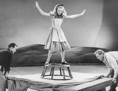 still-she-haunts-me-phantomwise:  Kathryn Beaumont doing live action reference for Walt Disney's Alice in Wonderland (1951). This picture is from Vintage Disney Alice.