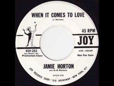 "Jamie Horton   ""When It Comes To Love "" (+playlist)"