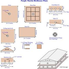 wooden purple martin birdhouse plans Bird house Pinterest