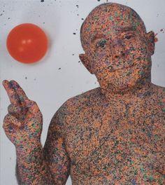 Szirtes János: Szubjektív erő / Subjective Power, 2010, 80 x 90 cm, acél, fa, olaj, lakk / steel, wood, oil, lacquer