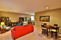 Gallery - Creative Homes. Amazing basement in one of our homes in the neighborhood Liberty West, located in Stillwater Minnesota.