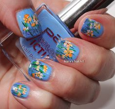 Marias Nail Art and Polish Blog: Flowers up in the air