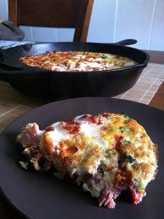 clean eating make-ahead breakfast: low-carb ham & veggie frittata