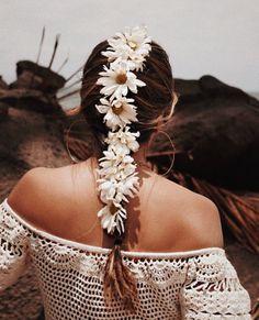 Crochet Off Shoulder Ruffles Lace Mini Dress, Wedding Bride Bridesmaid Dress, Festival Clothing . Flower Girl Hairstyles, Summer Hairstyles, Ombré Hair, Her Hair, Monokini, Beach Hippie, Hippie Chic, Vintage Street Fashion, Boho Fashion