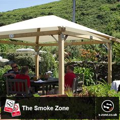 Tuscany Pavilions by the Smoke Zone  Our Tuscany 3m x 3m Timber Pavilion is absolutely perfect for those with a small to medium sized allocated smoking area. It can easily take an average sized eight seater table with plenty of space to spare.  To view more canopies go to: http://www.thesmokezone.co.uk/products/pubs-restaurants/  The S-Zone Group in East Yorkshire, Hull Contact our Sales team on: 01482 481050 Or visit our website on www.s-zone.co.uk