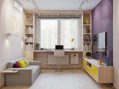 Дизайн однокомнатной квартиры в стиле минимализм в Новой Москве