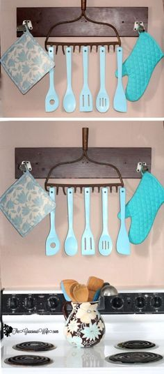 Best Country Decor Ideas - Rustic Utensil Holder - Rustic Farmhouse Decor Tutorials and Easy Vintage Shabby Chic Home Decor for Kitchen Living Room and Bathroom - Creative Country Crafts Rustic Wall Art and Accessories to Make and Sell Diy Crafts For Home Decor, Diy Home Decor For Apartments, Easy Home Decor, Easy Diy Crafts, Cheap Home Decor, Crafts To Make And Sell Easy, Diy Para A Casa, Diy Casa, Shabby Chic Homes