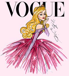 Disney Divas for Vogue by Hayden Williams: Aurora (Sleeping Beauty). #disney #vogue #BriarRose