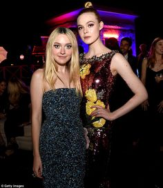 Sister act: The father of Dakota and Elle Fanning, shown in June in Los Angeles, filed for divorce on Thursday from their mother Heather