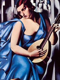 Bild:  Tamara De Lempicka - Donna in blu