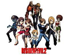Leon S. Kennedy, Claire Redfield, Sherry Birkin, Ada Wong, Annette Birkin,William Birkin, Police Zombie, Girl Zombie.