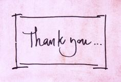 Thank You Note Inspiration
