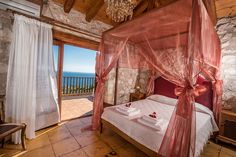 Holiday villa rental in Zakinthos. 3 bedroom villa Sofia with Jacuzzi &private pool & sea view. The villa is a three storey building measuring It. Private Pool, Jacuzzi, 5 Star Hotels, Outdoor Furniture, Outdoor Decor, Greece, Bedroom, Villas, Interiors