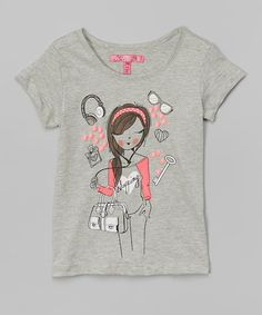 Loving this Gray Shopaholic Graphic Tee - Girls on #zulily! #zulilyfinds