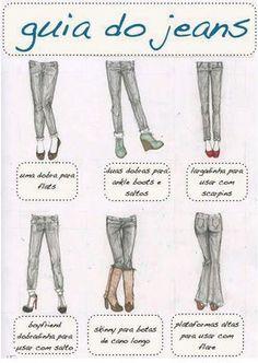 Dica de moda: guia de barras de calça de acordo com o tipo de sapato www.falandodebeleza.com.br #moda #fashion #calça #calçajeans #dicas #dicasdemoda #look #lookoftheday #barra #barradecalça #sapatos #style #personalstylist #guiadojeans #guia #fashiontips #tips #beauty #beleza #lookdodia #calçaflare #denin