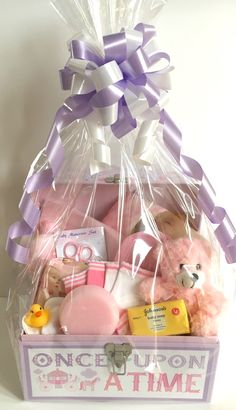 Beautiful Baby Gift Baskets and Gifts Online based in Bedford Baby Girl Gift Baskets, Baby Gift Hampers, Kids Gift Baskets, Baby Gift Box, Baby Shower Gift Basket, Baby Hamper, Baby Girl Gifts, Cute Baby Shower Gifts, Baby Shower Presents
