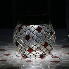 Smart Solar 3774WRM1 Glass Mosaic TLight Pathway Light, Champagne - Lighting Universe