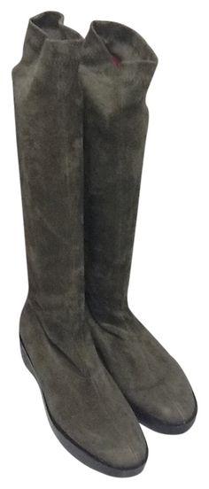 bb02b2fc5ec Robert Clergerie Gray Nwob Suede Knee Platform B Boots Booties Size US 9  Regular (M