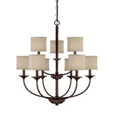 Capital Lighting C3929BB468 Loft Large Foyer Chandelier Chandelier - Burnished Bronze