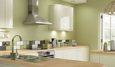 green and cream kitchen - Google Search